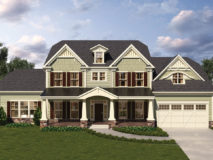 Optional Craftsman style elevation for the McLean model home.