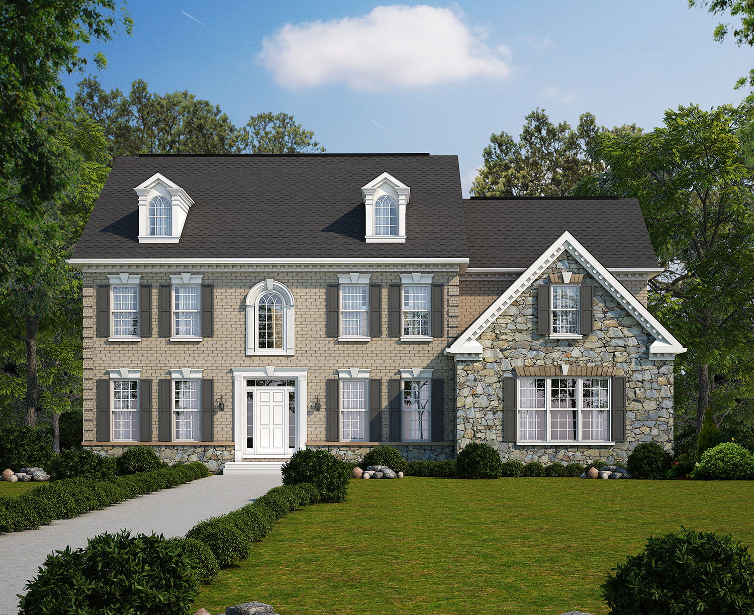 Stone Mill Elevation Profile : The kingsmill classic homes