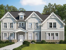 Craftsman style elevation for the Monticello model home.
