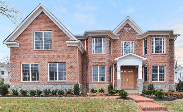 elegant brick ext custom bethesda home