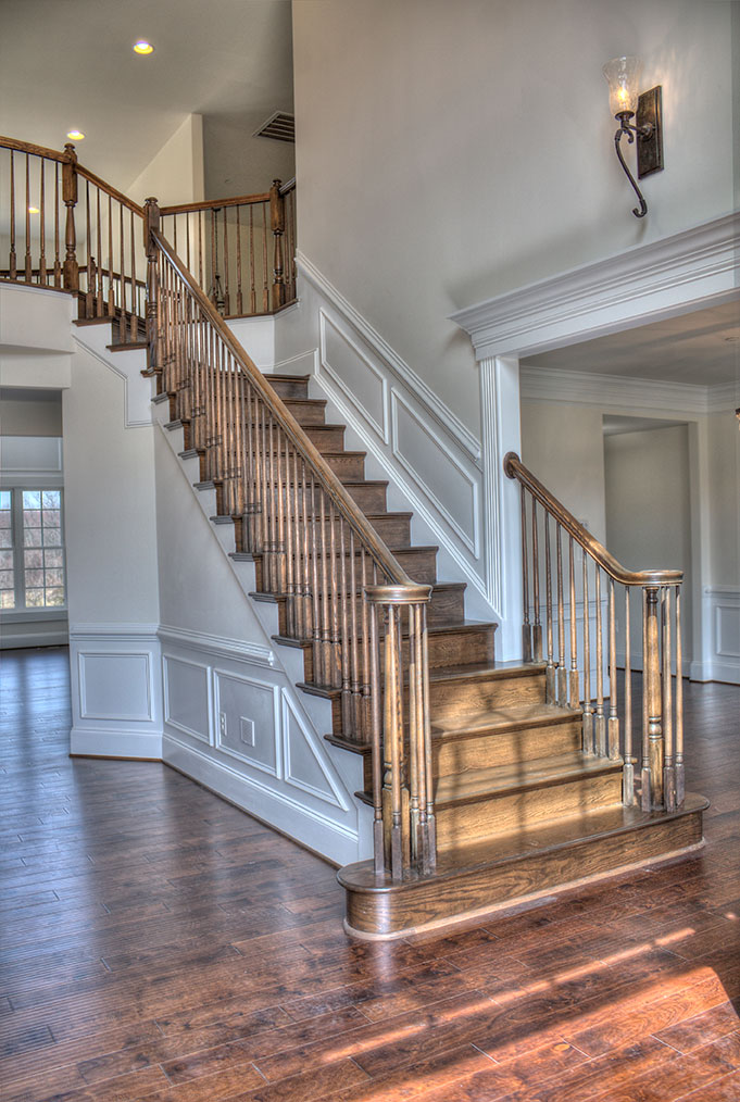 One half of the double staircase, towards Dining Room.