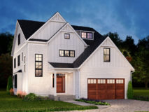 Optional elevation 200 for the Darcy model home.