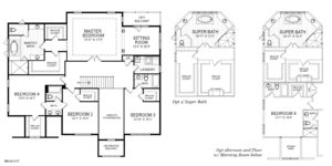 Second Floorplan for the Winston model home.