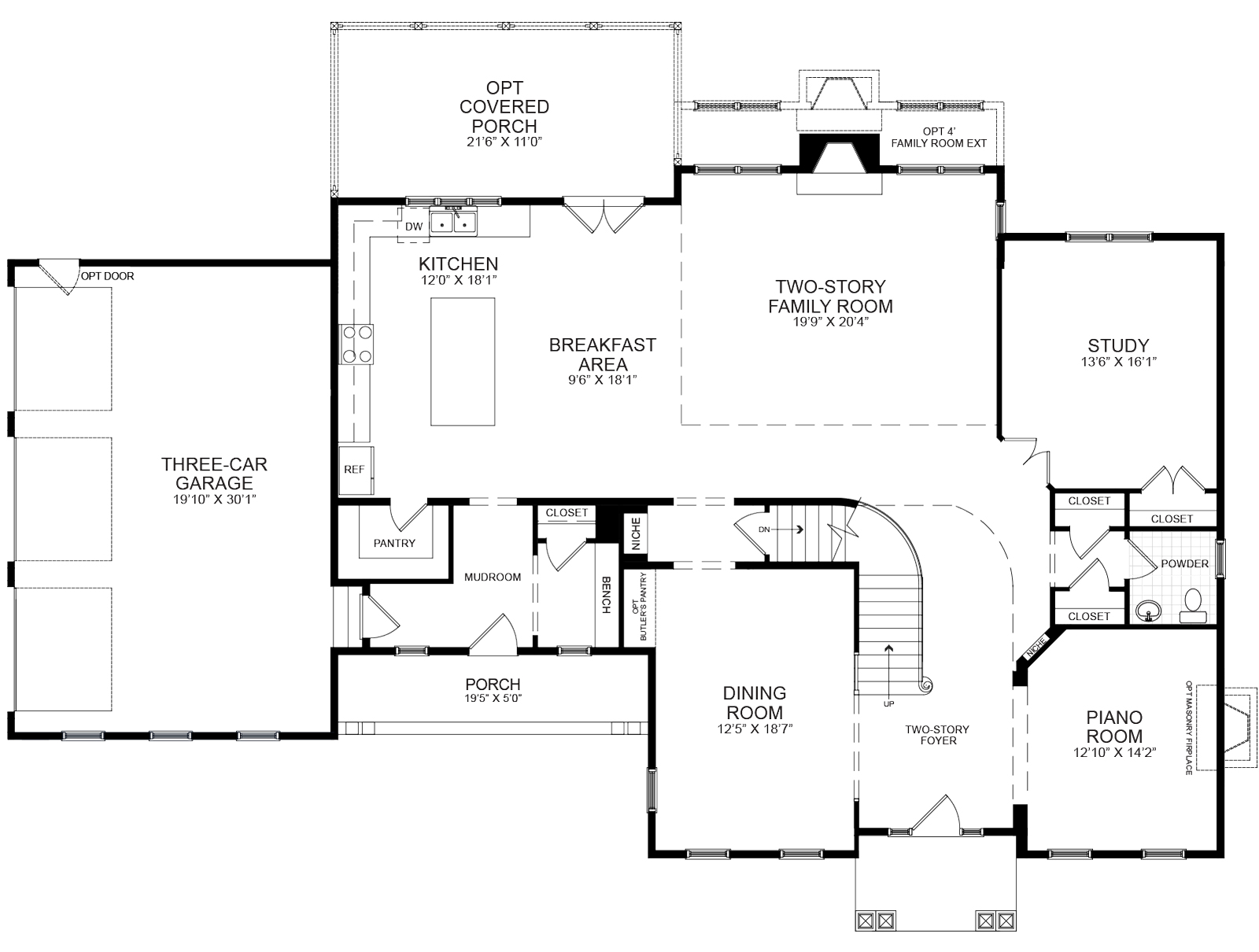 First floor plan of home proposed for 13316 Manor Stone Dr.